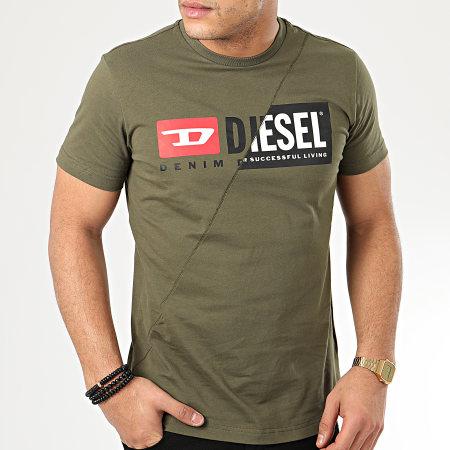 Diesel - Tee Shirt Diego Cuty 00SDP1-0091A Vert Kaki