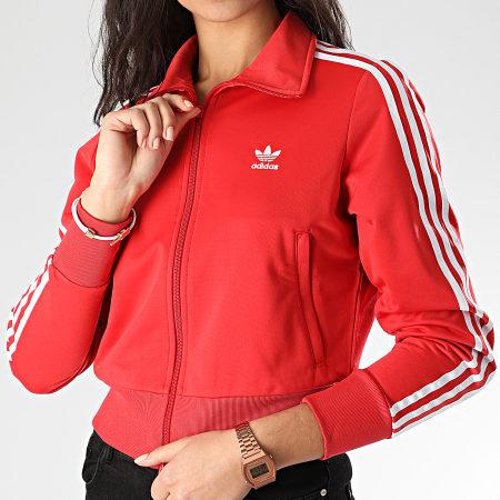 veste adidas rouge capuche femme