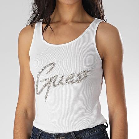 Guess - Débardeur Femme A Strass W0GI73-K1810 Blanc