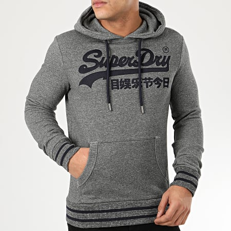 Superdry Sweat Capuche VL Embroidered M2010111A Gris Chiné