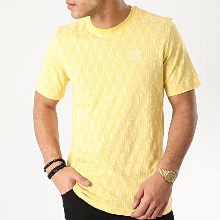 adidas Tee Shirt Mono All Over Print FM3425 Jaune