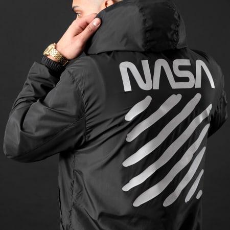 NASA - Coupe-Vent Skid Réfléchissant Noir
