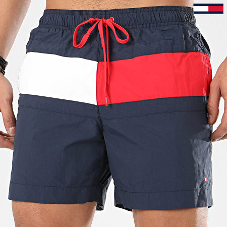 Tommy Hilfiger - Short De Bain Medium Drawstring 1070 Bleu Marine