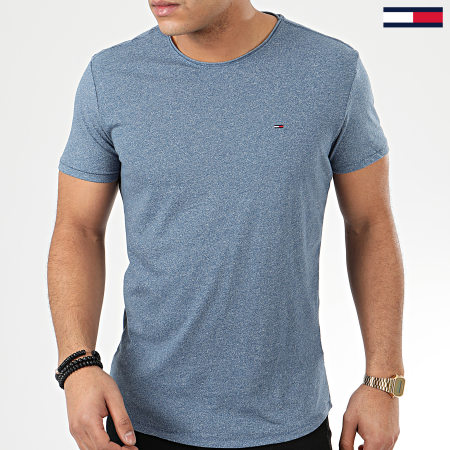 Tommy Hilfiger Jeans - Tee Shirt Essential Jaspe 4792 Bleu Chiné