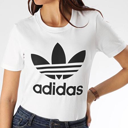 adidas - Tee Shirt Femme Trefoil FM3306 Blanc