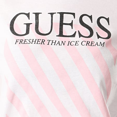 Guess - Tee Shirt Slim Femme W0GI57-JA900 Blanc