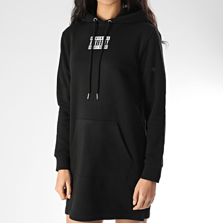 Parental Advisory - Sweat Robe Capuche Femme Mini Noir