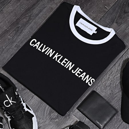 Calvin Klein - Tee Shirt Institutional 6086 Noir