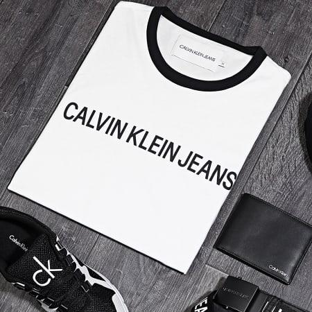 Calvin Klein - Tee Shirt Institutional 6086 Blanc