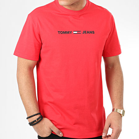 Tommy Hilfiger Jeans - Tee Shirt Straight Small Logo 7621 Rouge