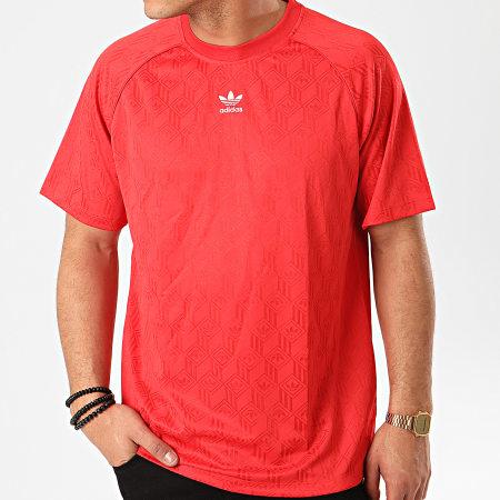adidas - Tee Shirt De Sport Mono FM3405 Rouge