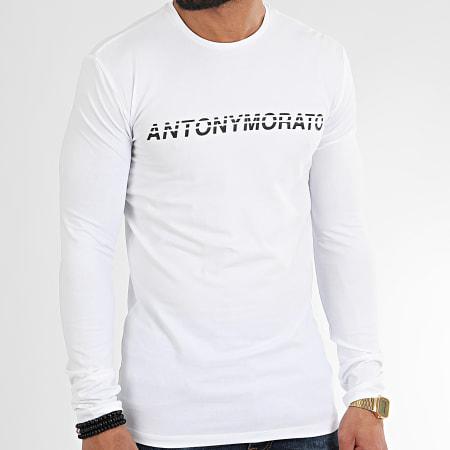 Antony Morato - Tee Shirt Manches Longues Sport The Green Lin MMKL00271 Blanc