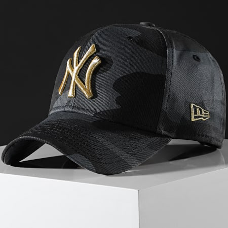 New Era - Casquette Baseball Camouflage New York Yankees 9Forty 12392337 Gris Anthracite Doré