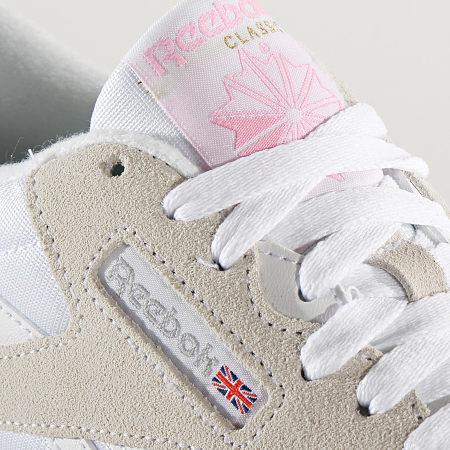 Reebok - Baskets Femme Classic Leather Nylon FV4507 White Light Grey