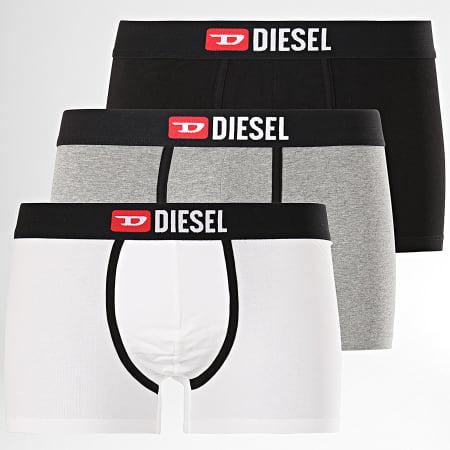 Diesel - Lot De 3 Boxers Damien 00ST3V-0WAWD Noir Gris Chiné Blanc