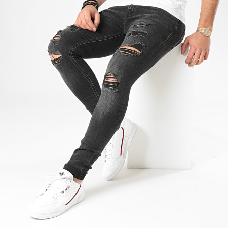 Jack And Jones - Jean Skinny Liam Original AM 402 Noir