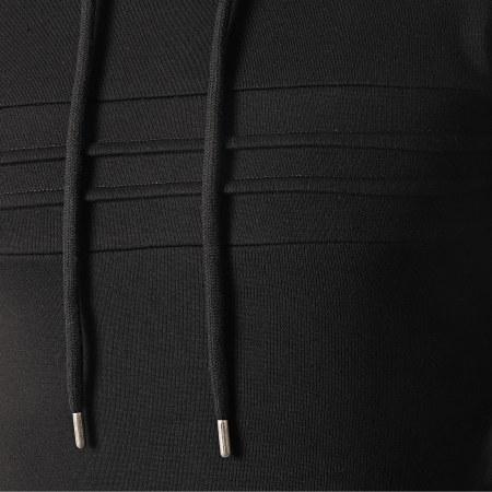 LBO - Sweat Capuche avec Empiecement 1021 Noir
