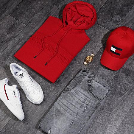 LBO - Sweat Capuche avec Empiecement 1026 Rouge