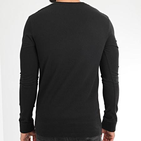 Superdry - Tee Shirt Manches Longues Core Logo Camo Stripe M6010031A Noir Camouflage