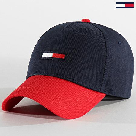 Tommy Jeans - Casquette Flag Cap 5956 Bleu Marine Rouge