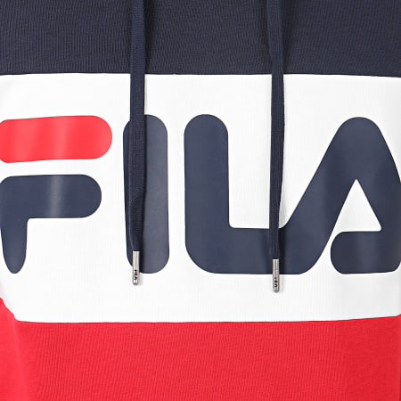 Fila - Sweat Capuche Tricolore 688051 Night Blocked Rouge Bleu Marine Blanc