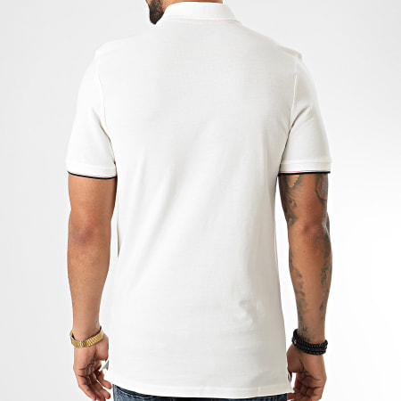 Jack And Jones - Polo Manches Courtes Chelsey Ecru