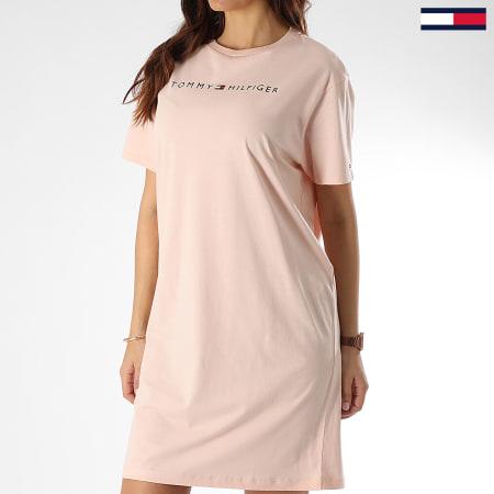 Tommy Hilfiger Robe Tee Shirt Femme Rn Half Sleeve 1639 Rose Clair Laboutiqueofficielle Com