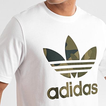 adidas Tee Shirt Camouflage Infill FM3337 Blanc