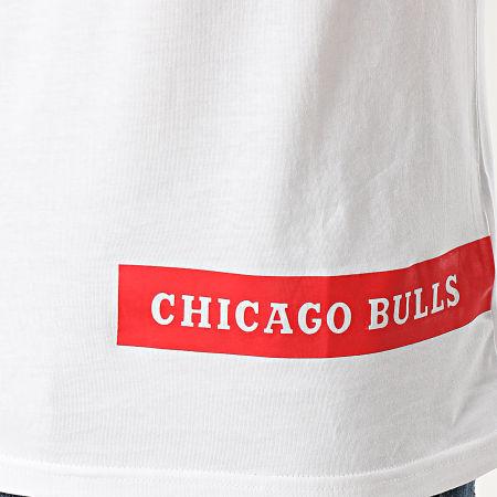 New Era - Tee Shirt NBA Chicago Bulls Block Wordmark 12195402 Blanc