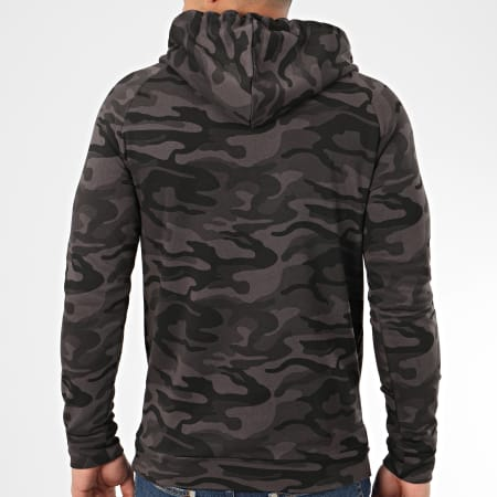 LBO - Sweat Capuche Raglan 957 Camouflage Noir