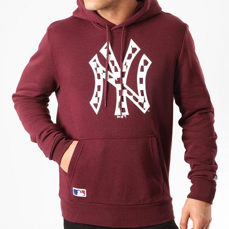 New Era - Sweat Capuche MLB Infill Logo New York Yankees 12195442 Bordeaux