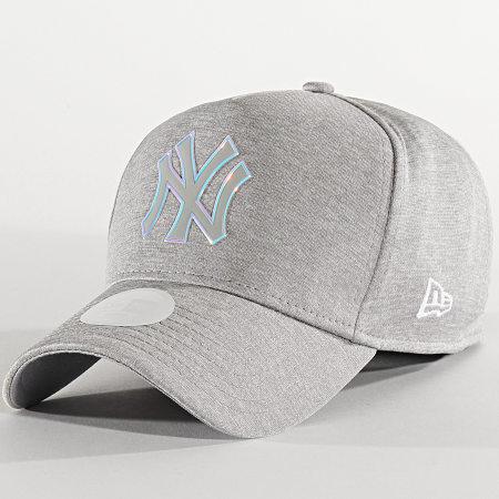 New Era - Casquette Femme Iridescent 12285216 New York Yankees Gris Chiné Iridescent
