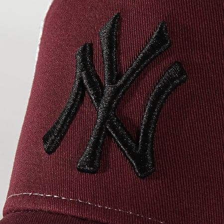 New Era - Casquette Trucker Essential AF New York Yankees 12285468 Bordeaux Blanc