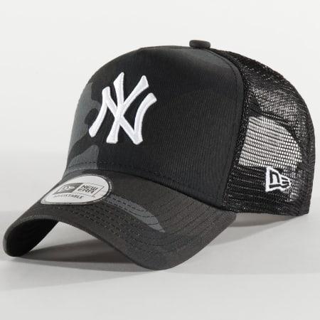 New Era - Casquette Trucker Essential A Frame 12285470 New York Yankees Noir Camouflage