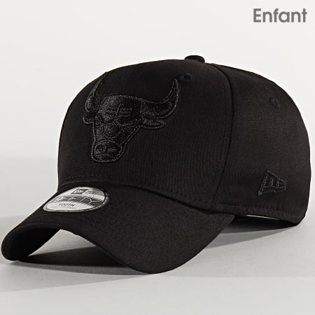 New Era - Casquette Enfant 9Fifty Tonal Black Stretch Snap 12301109 Chicago Bulls Noir