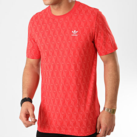 adidas Tee Shirt Mono All Over Print FM3426 Rouge