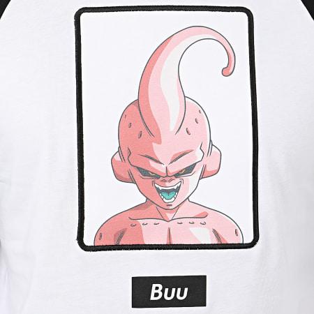 Dragon Ball Z - Tee Shirt Manches Longues Buu Bicolore Blanc Noir