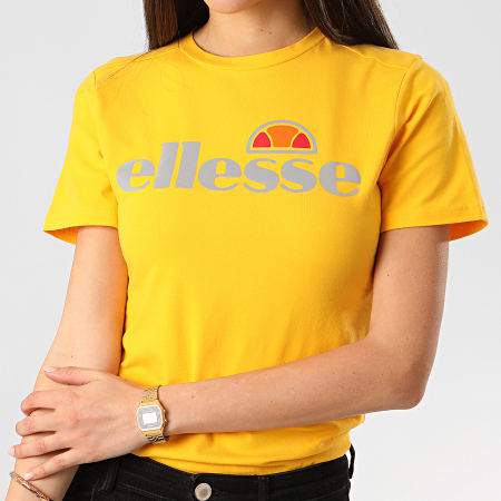 Ellesse - Tee Shirt Slim Femme Barletta 2 SRE08171 Jaune Réfléchissant