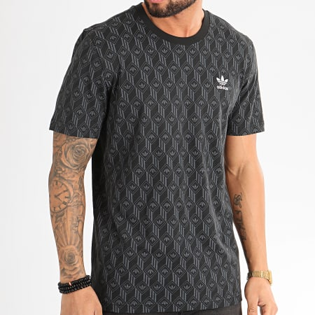 adidas Tee Shirt Mono All Over Print FM3423 Noir