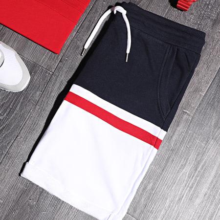 LBO - Short Jogging Tricolore 1060 Bleu Marine Rouge Blanc