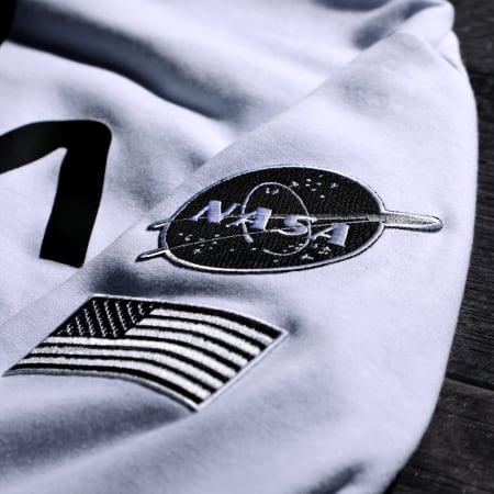 NASA - Sweat Capuche Patches Black And White Blanc