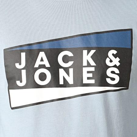 Jack And Jones - Tee Shirt Manches Longues Shaun Bleu Clair
