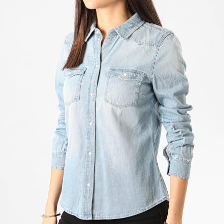 Vero Moda - Chemise En Jean Femme Maria Bleu Denim