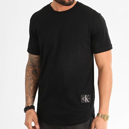 Calvin Klein Jeans - Tee Shirt Oversize Badge Turn Up 5319 Noir