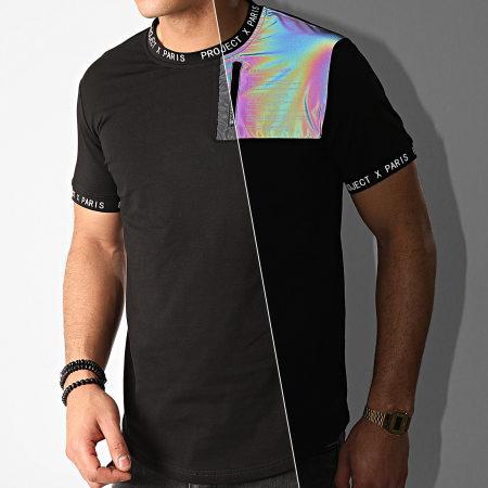 Project X - Tee Shirt Oversize 2010108 Noir Réfléchissant Iridescent