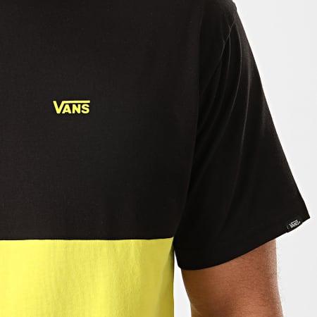 Vans - Tee Shirt Colorblock A3CZDYND Noir Jaune Fluo ...