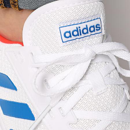 adidas - Baskets Duramo 9 EG8665 Cloud White Glowing Blue Solar Red
