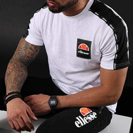 Ellesse - Tee Shirt A Bandes Serchio SHE08527 Blanc