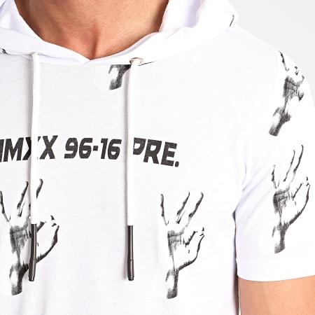 Ikao - Ensemble Tee Shirt Capuche Short Jogging F819 Blanc