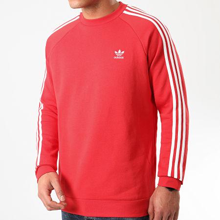 adidas - Sweat Crewneck A Bandes 3 Stripes FM3761 Rouge